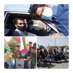حضور ارکان کانون سادات گورزانگ در رژه موتوری و ماشینی ۲۲ بهمن بخش بندزرک