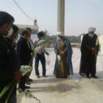 ادای احترام به مقام شامخ شهدای هواپیمایی در سالگرد عروج ملکوتی شهدای عزیز در گلزار شهدای صمدی روستای گورزانگ